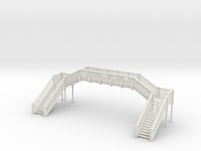 Footbridge - 1 To 64 Scale in White Natural Versatile Plastic