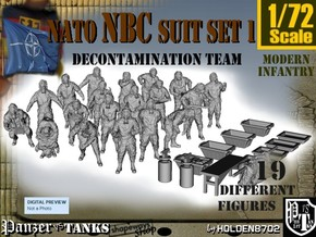 1-72 NATO NBC Suit Set 1 in Frosted Ultra Detail