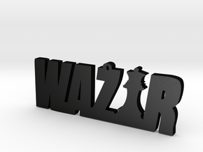 Wazir in Matte Black Steel