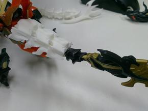 TFP Voyager Beast king Tail-Shield  in White Strong & Flexible