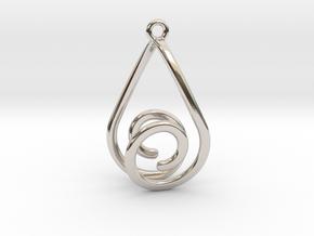 Strange Earring 1 in Rhodium Plated Brass