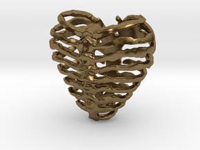 Broken Heart in Natural Bronze