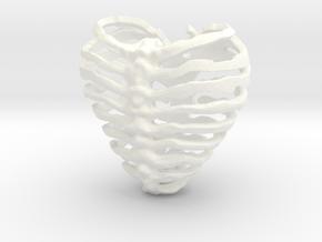 Broken Heart in White Processed Versatile Plastic