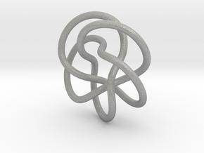 Tubular Torus Knot Pendant in Aluminum