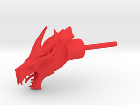 Dragon Head Liquor Pourer in Red Processed Versatile Plastic
