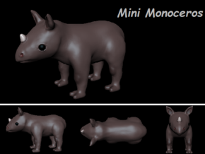 Mini Monoceros in White Strong & Flexible