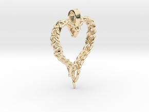 Celtic Unraveled Heart  in 14k Gold Plated Brass