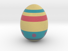 Racing For Eggs (real Egg Size) in Full Color Sandstone