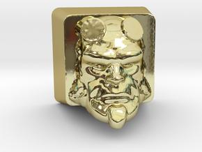 Cherry MX HellBoy Head Keycap in 18k Gold Plated Brass