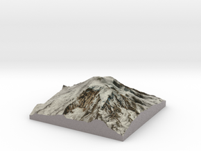 """Mt Rainier Summit Map: 8"""" in Full Color Sandstone"""