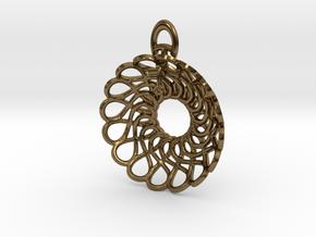 Infinity Heart Pendant in Polished Bronze