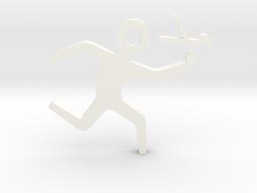 Running with Scissors in White Processed Versatile Plastic