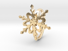 Snowflake Ring 2 d=16mm h21d16 in 14K Yellow Gold