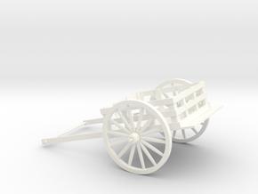 5 inch Pioneer Handcart in White Processed Versatile Plastic