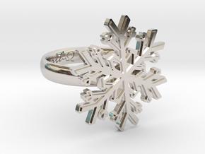 Snowflake Ring 1 d=17mm h35d17 in Platinum