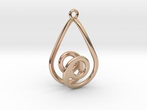 Strange Earring 2 in 14k Rose Gold Plated Brass