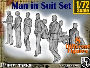 1-72 Man In Suit SET in Frosted Ultra Detail