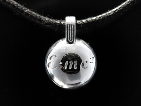 E=mc2 in Rhodium Plated