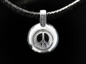 Peace in Rhodium Plated Brass