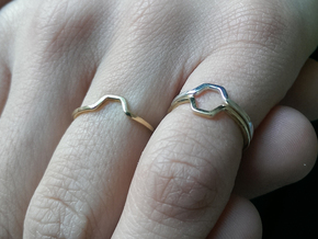 """A-Line"" Honey Ring, US size 6, d=16,5mm (alls siz in Polished Silver: 6 / 51.5"
