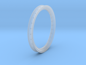 Free Flight Spoked Wheel Rim in Smooth Fine Detail Plastic