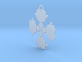 Mandelbrot Flake Pendant in Smooth Fine Detail Plastic