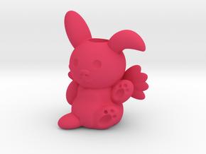 Bunny Holder in Pink Processed Versatile Plastic