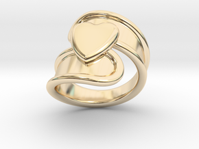 Valentinodayring 14 - Italian Size 14 in 14k Gold Plated