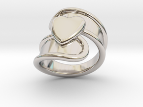 Valentinodayring 14 - Italian Size 14 in Rhodium Plated Brass