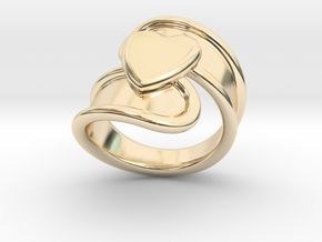 Valentinodayring  15 - Italian Size 15 in 14k Gold Plated