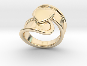Valentinodayring  16 - Italian Size 16 in 14K Yellow Gold