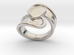 Valentinodayring  18 - Italian Size 18 in Rhodium Plated Brass
