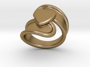 Valentinodayring  19 - Italian Size 19 in Polished Gold Steel