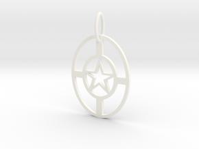 StarNecklace in White Processed Versatile Plastic