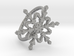 Snowflake Ring 2 d=17mm h21d17 in Aluminum
