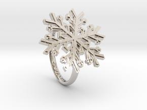 Snowflake Ring 1 d=17mm h21d17 in Platinum