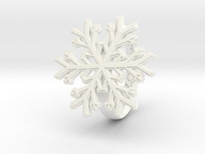 Snowflake Ring 1 d=18mm h35d18 in White Processed Versatile Plastic