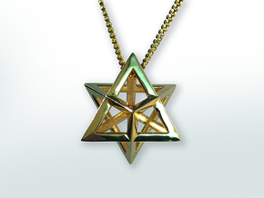 Merkaba in Polished Brass