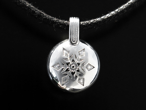 Snow in Rhodium Plated Brass