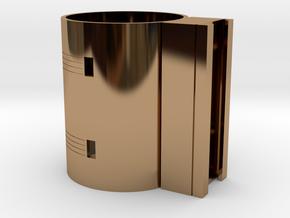 MHS compatible Lightsaber activation box in Polished Brass