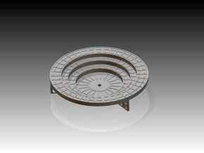 Oerlikon Band Stands 3 supports 1/72 in Smooth Fine Detail Plastic
