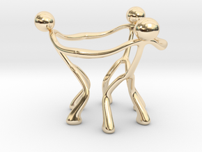 Stickman Egg Cup in 14k Gold Plated Brass