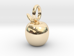 Sweet Apple in 14k Gold Plated Brass
