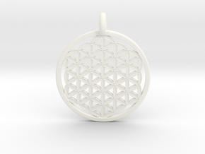 Flower Of Life in White Processed Versatile Plastic