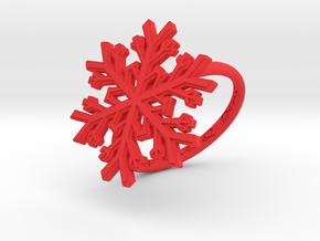Snowflake Ring 1 d=18mm h21d18 in Red Processed Versatile Plastic