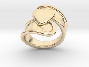 Valentinodayring  21 - Italian Size 21 in 14k Gold Plated Brass