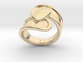 Valentinodayring  25 - Italian Size 25 in 14k Gold Plated Brass