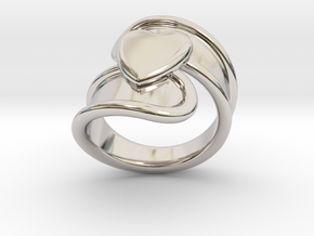 Valentinodayring  26 - Italian Size 26 in Rhodium Plated Brass