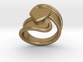 Valentinodayring  26 - Italian Size 26 in Polished Gold Steel
