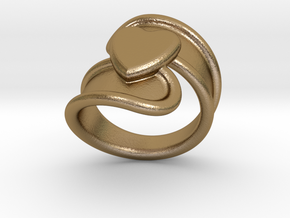 Valentinodayring  27 - Italian Size 27 in Polished Gold Steel